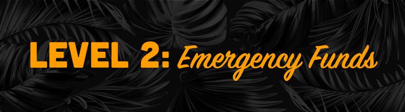 Level 2: Emergency Funds